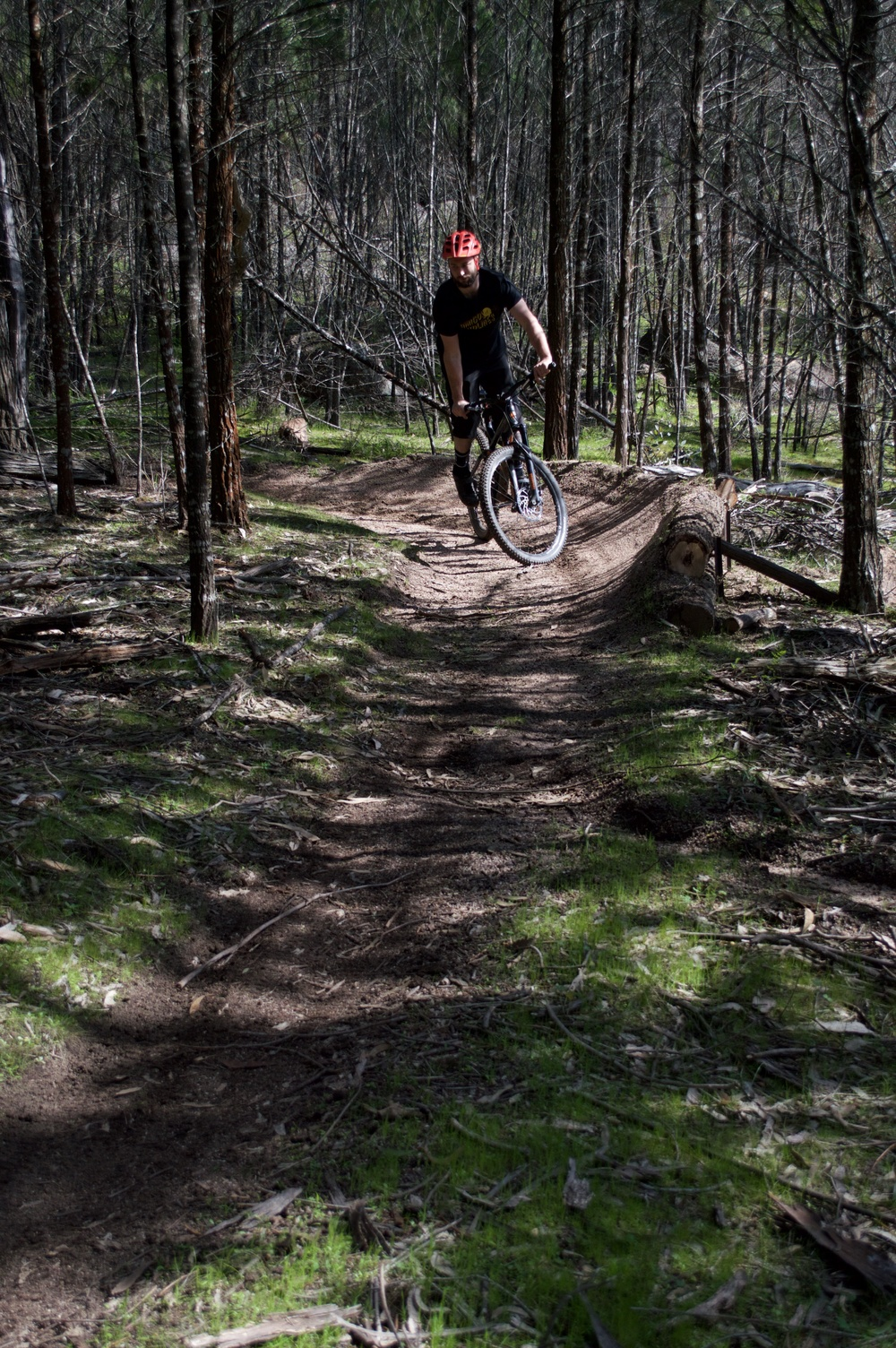 Stylish and practical - riding in the bottom of the berm with no pace at all. This is how you win Strava. Pic by Jimmy