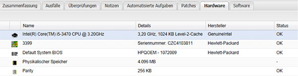 Patch-Management-Hardwareuebersicht