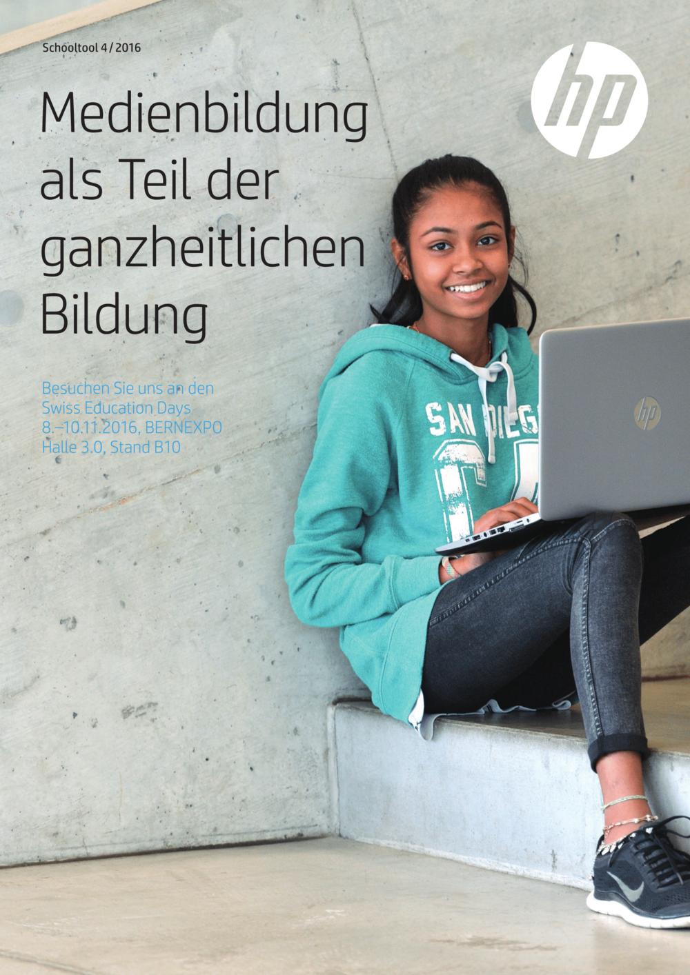 Schule Wohlen HP x360 Convertible PCs– mit Windows 10 und Office 365 ideal für den Einsatz in der Schule → Download PDF Schooltool 4/2016