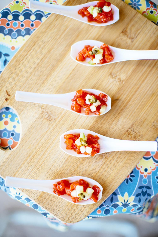 Salmon Tartar with Tomatillo Salsa