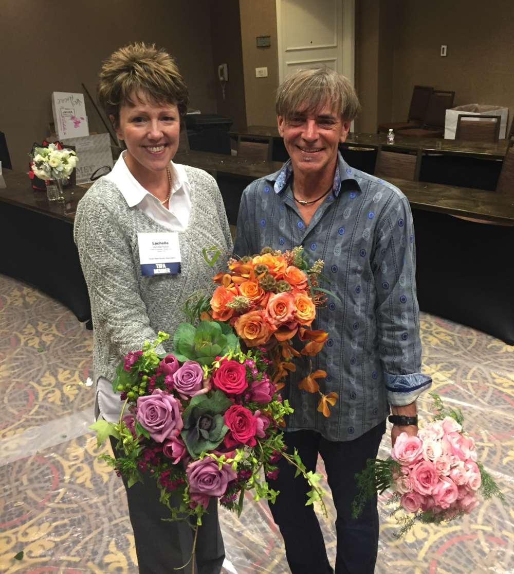 Lachelle and J. Keith White, and their beautiful blooms