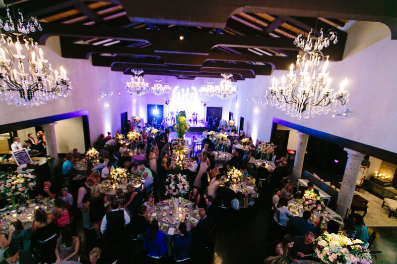 Aerial View of Wedding