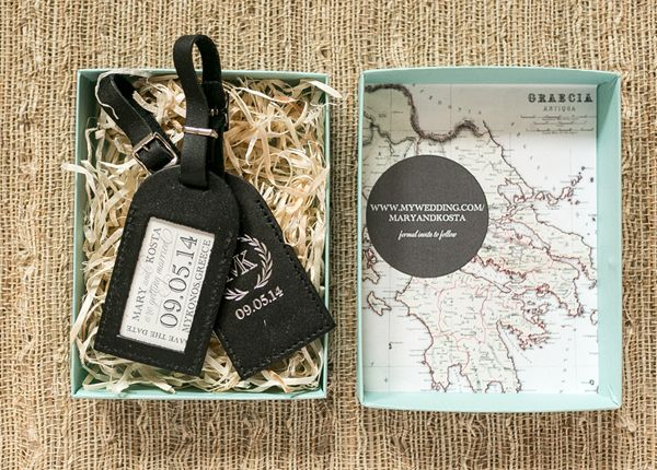 If Youre Having A Destination Wedding Treat Your Guests With Save The Date Thats Also Functional Like This Luggage Tag