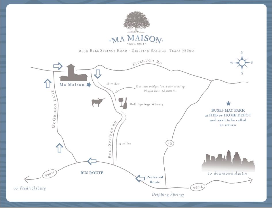 Map to Ma Maison