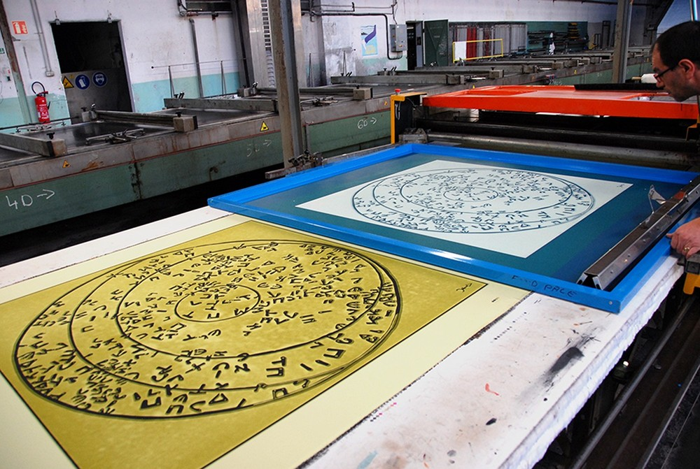 Freshly printed fourth screen: Yellow Sulphur, between Chartreuse and Pernod