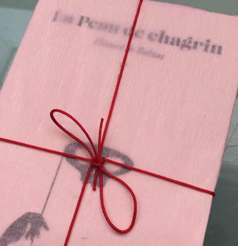 "'Who can determine the point at which sensuality becomes painful, or at which pain becomes a sensual delight' –Balzac, ""La Peau de Chagrin"", limited edition press, designed by Lazlito Kovacs, Present Plus."