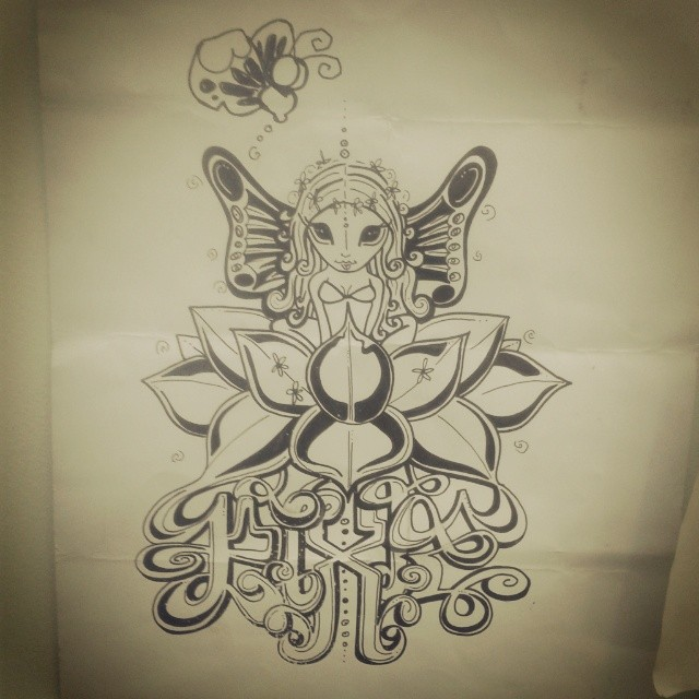 I was so happy to have one of my sketches blessed with a butterfly from #markbode when our crew went to his show last year. Good times! Thankyou :-) <3