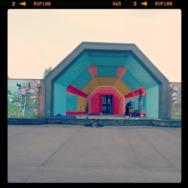 Finishing up the #mural at Broadwater Farm estate! #community #love #sunshine