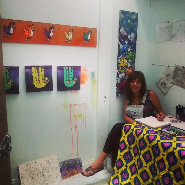Been in here all weekend for my open studios! Hope everyone had fun inna inna de sun.. #artist #murals #illustration