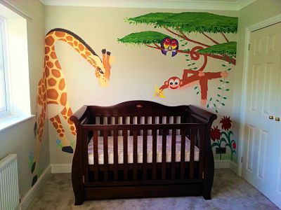 Animal themed babies nursery