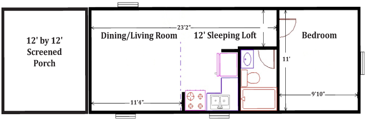 layout of stewart lodge
