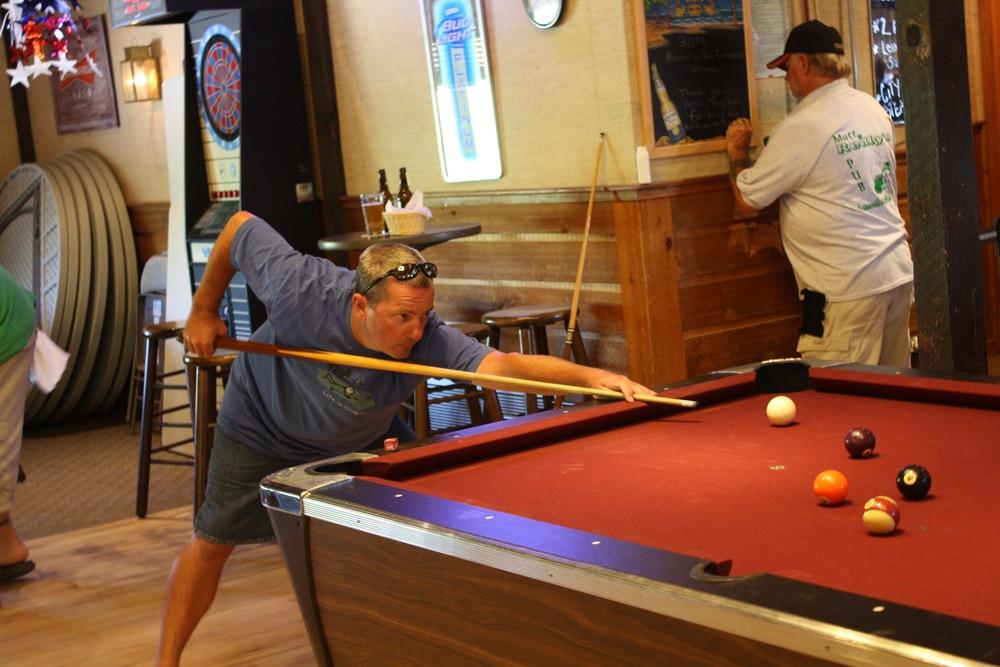 pool table with weekly tournaments