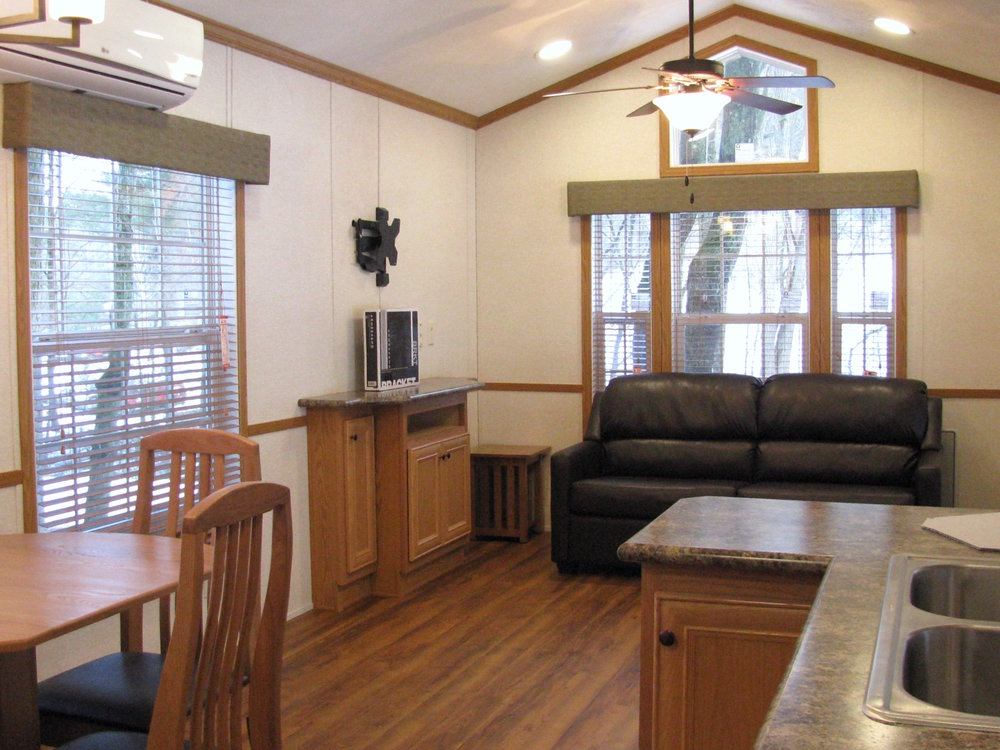 living room of skyline trialer