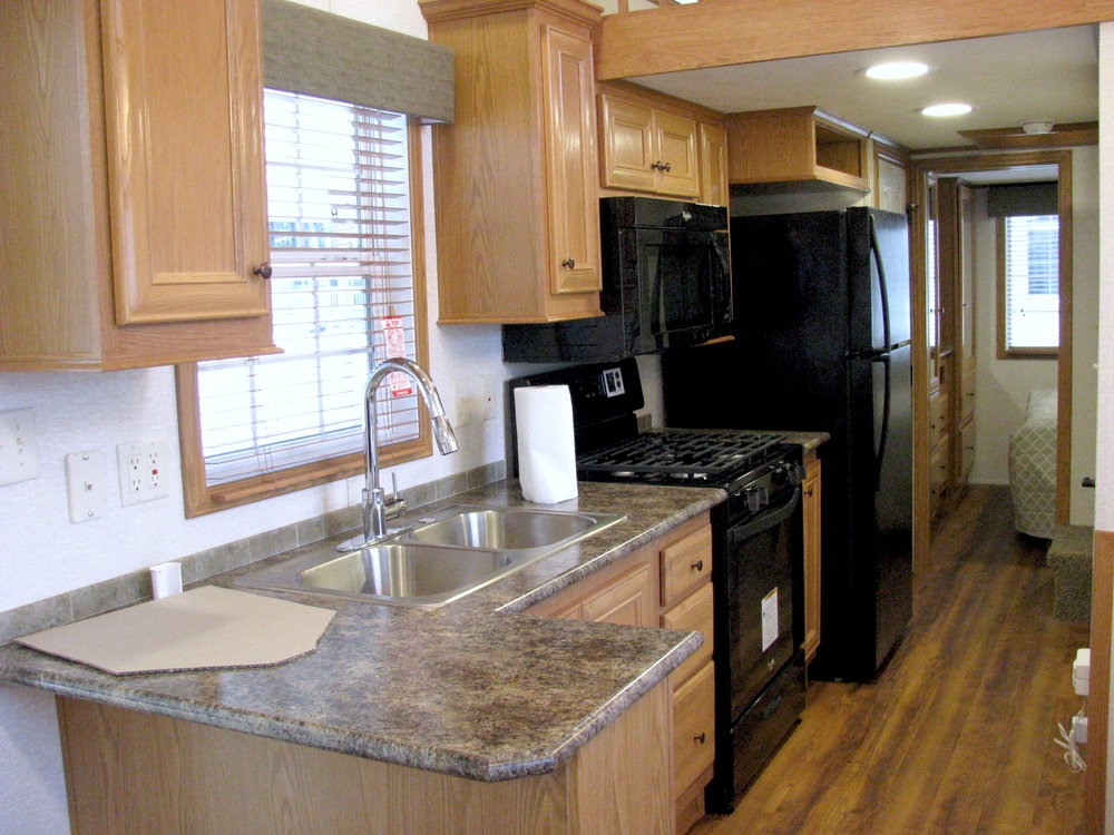 kitchenette of skyline trialer