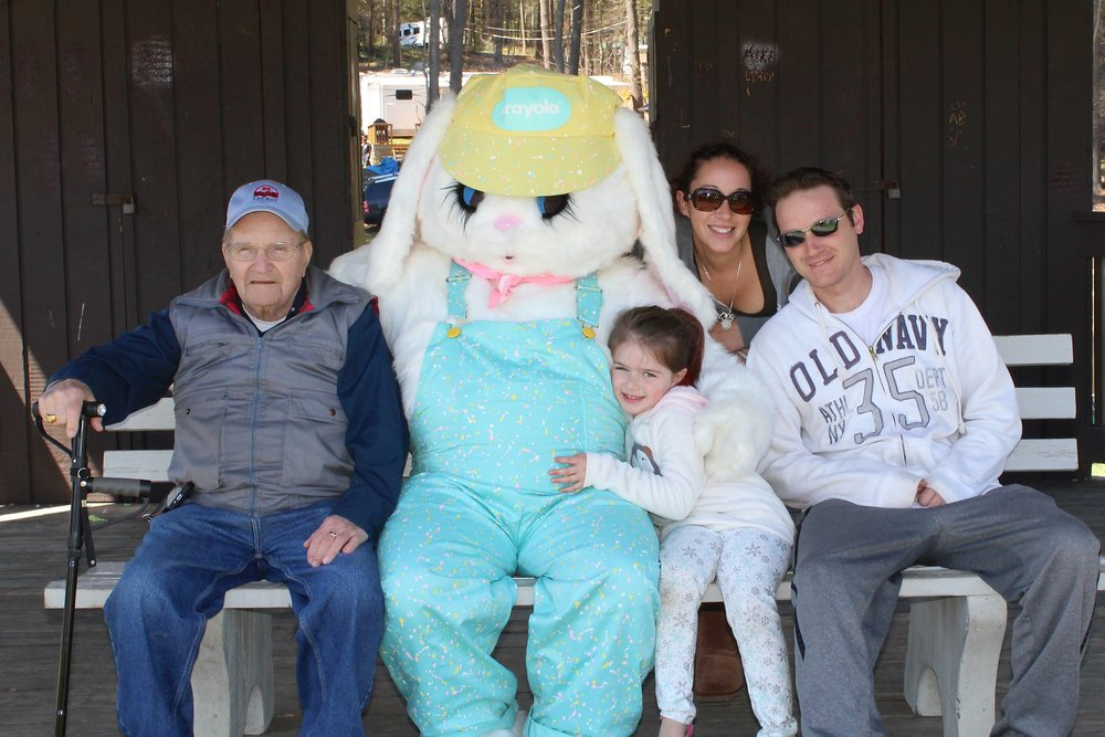 easter bunny visiting lone oak