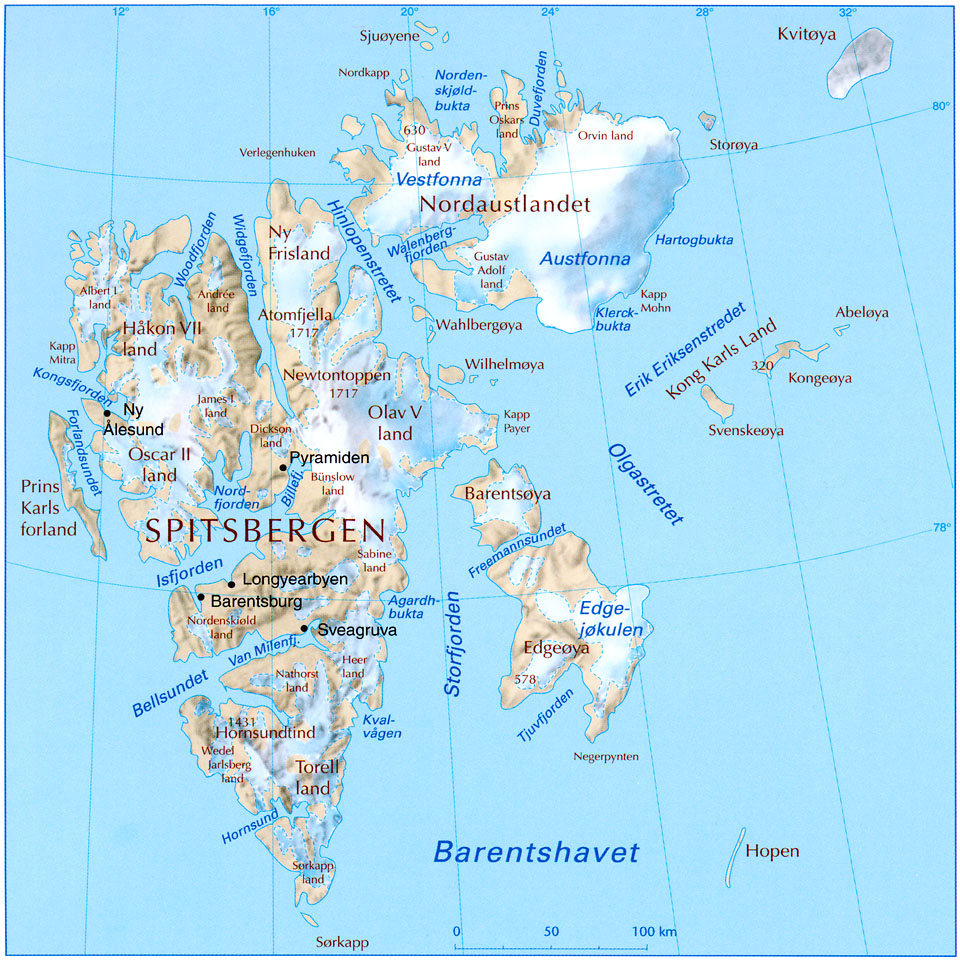 Svalbard, an arctic archipelago just 10º latitude south of the North Pole
