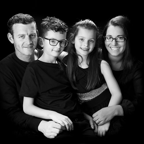 classic black and white family photography manchester