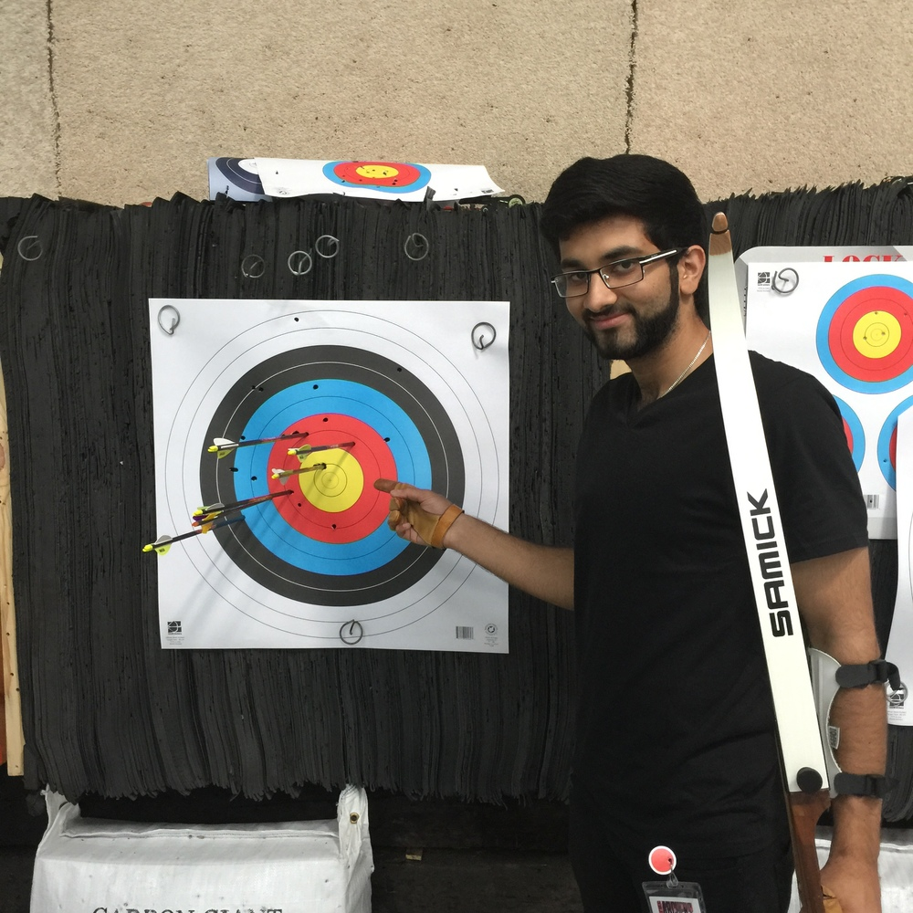 Member Taha Zuhair improving his grouping - moving to 15 yds