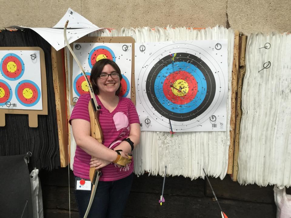 Liz with a Bullseye