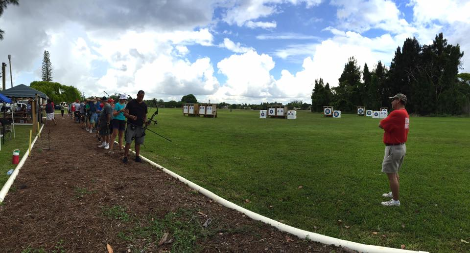 Panorama of Miami Optimist Archery Club Range