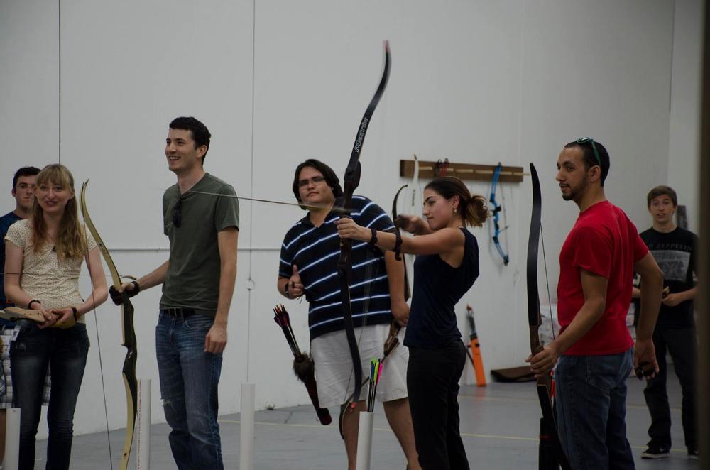 Arrow Mid-Flight at Practice