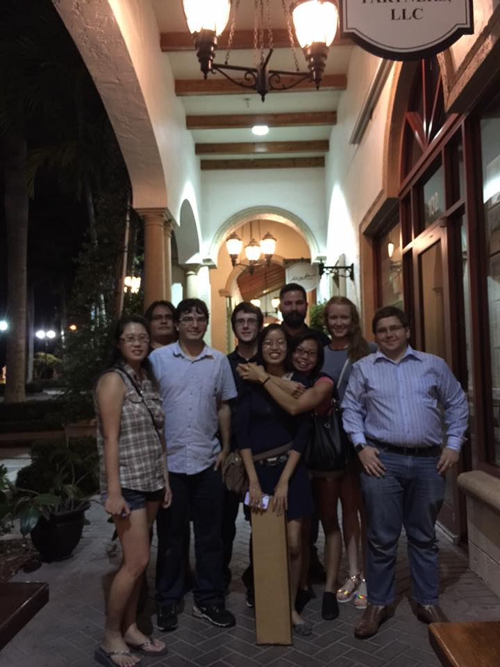 Group Photo at Vivian's Going Away Dinner