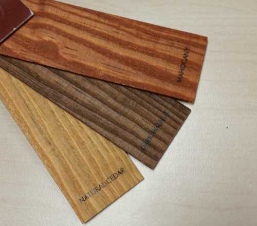 Color Options Natural Cedar Dark Walnut