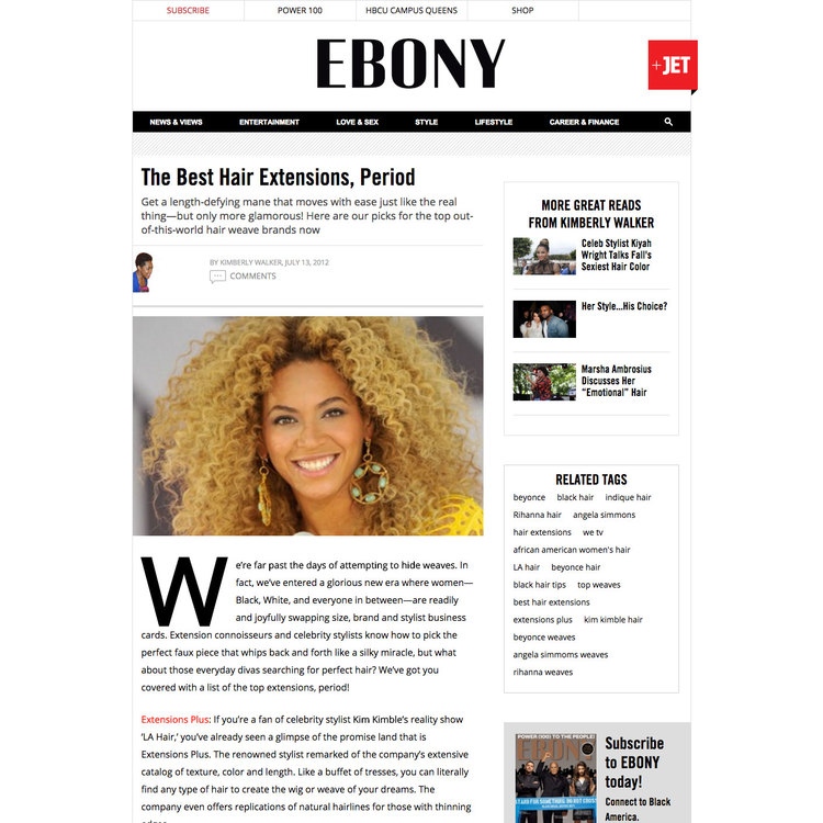 Ebony Feature On The Best Hair Extensions Period Bohyme