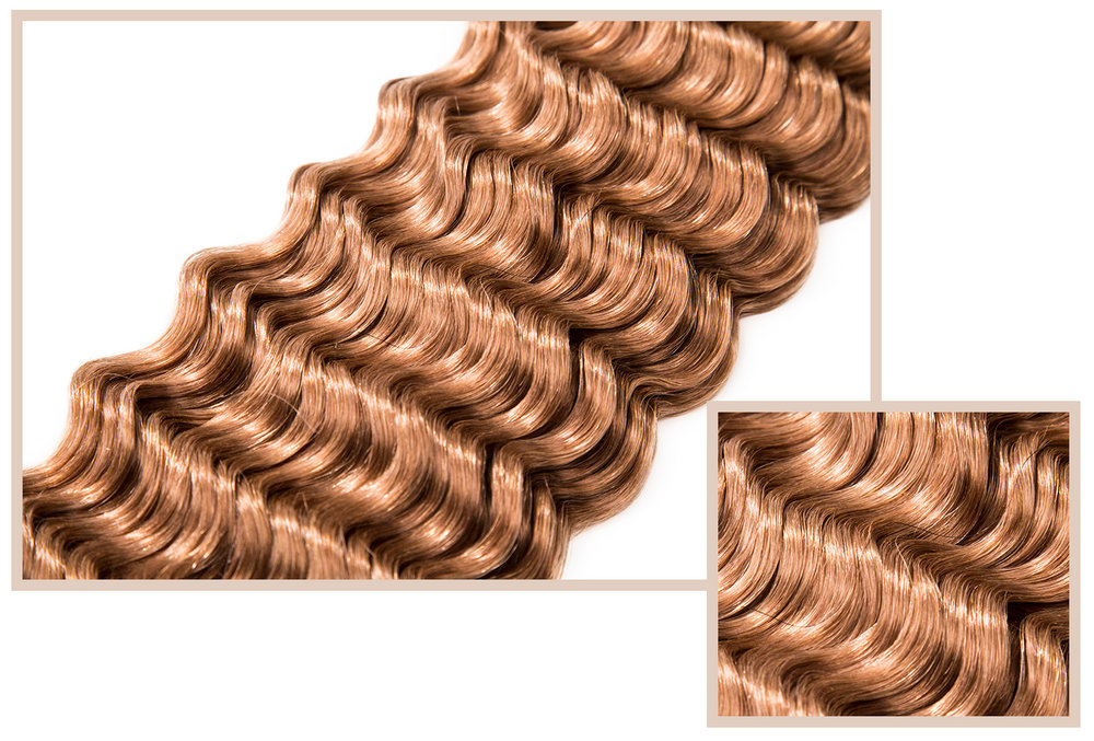DEEP WAVE - Available in Classic CollectionWell-defined, spiral curls delivering Amazonian curves and waves. Offers endless options to create and enhance texture. Very easy to maintain. Great for those who like a permed-look that retains its curl pattern.