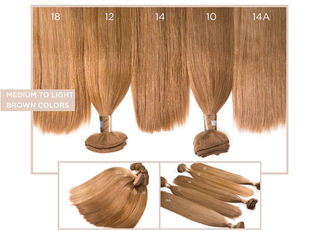 Medium to Light Brown Colors   18, 12, 14, 10, 14A