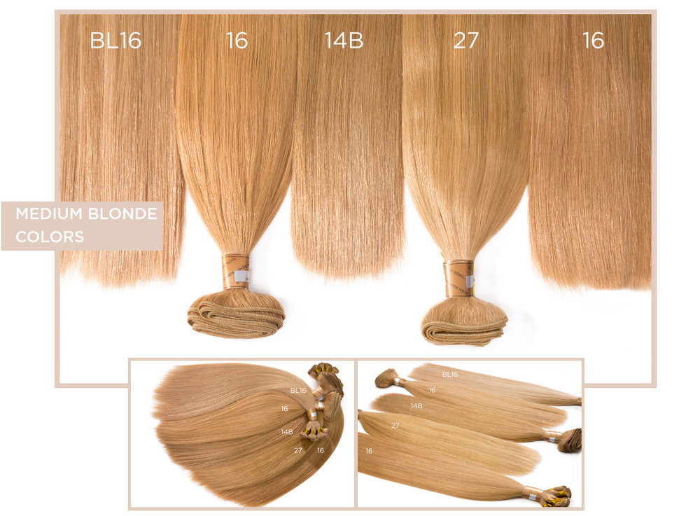 Medium Blonde Colors    BL16, 16, 14B, 27, 16
