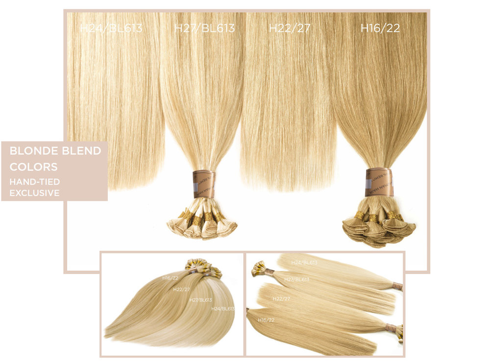 Blonde Blend Colors   (Hand-Tied Exclusive)   H24/BL613, H27/BL613, H22/27, H16/22