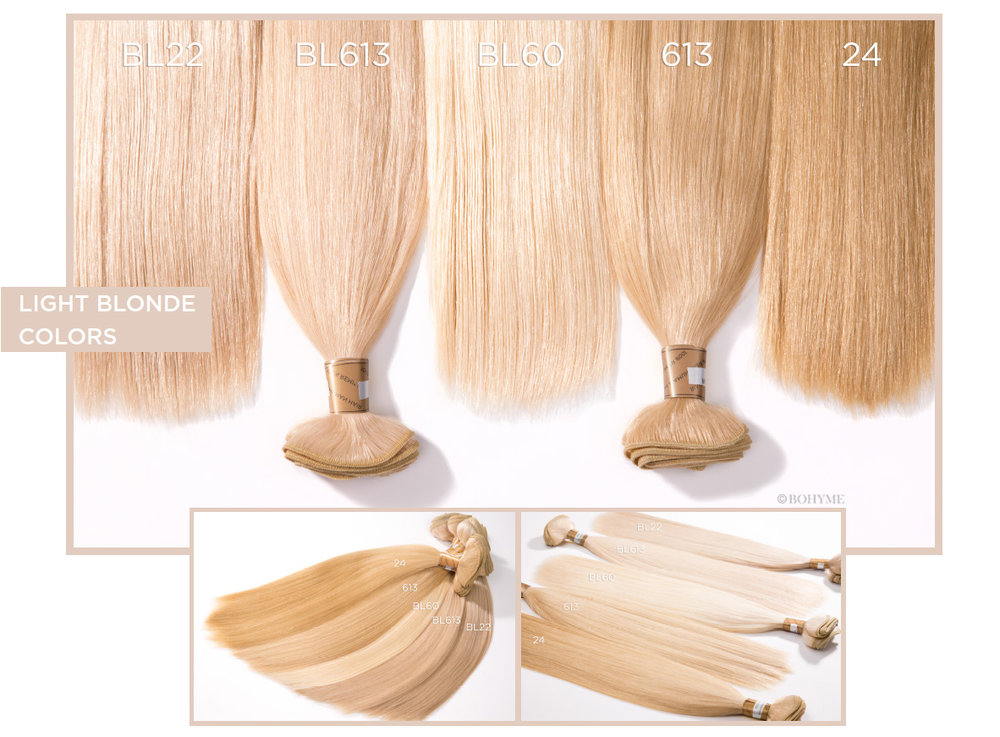 Light Blonde Colors  BL22, BL613, BL60, 613, 24