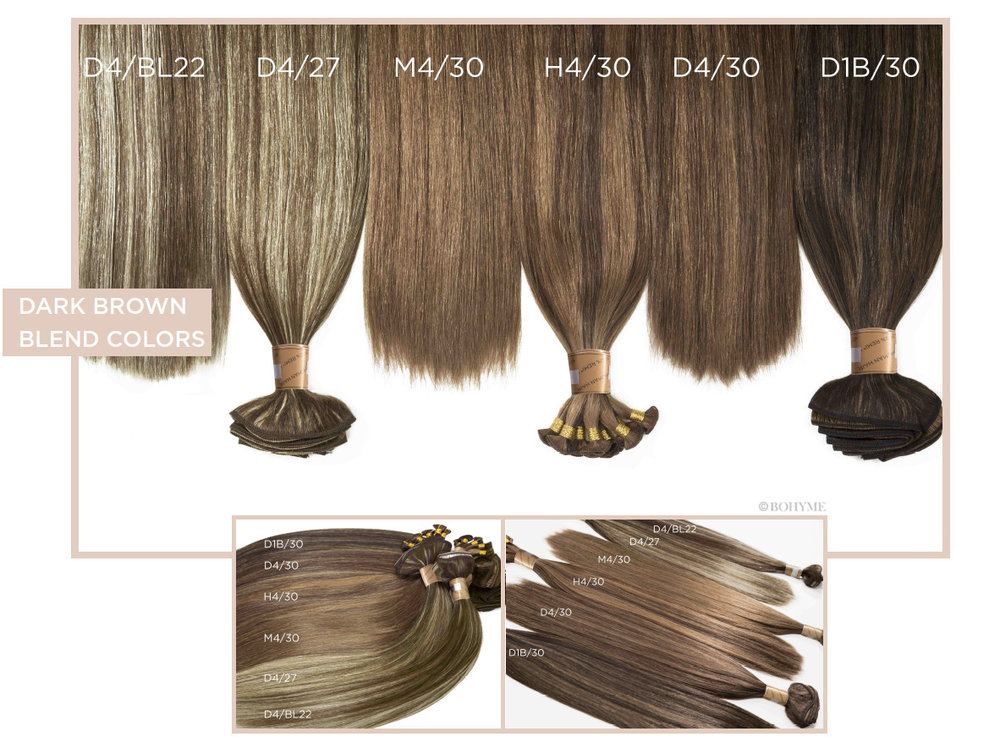 Dark Brown Blend Colors  D4/BL22, D4/27, M4/30, H4/30, D4/30, D1B/30