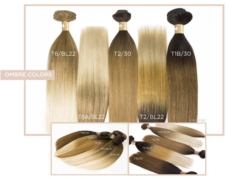 Ombre Colors  T6/BL22, T8A/BL22, T2/30, T2/BL22, T1B/30