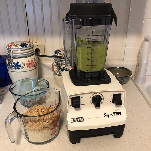 The old #vitamix is helping us with dinner tonight. #cooking #meatloaf