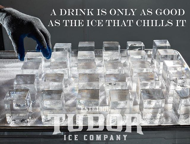 The U.S. Health Protection Agency conducted a study where they collected ice from 10 resturant chains and determined that in 6 out of 10 locations those cubes contained higher levels of bacteria than the samples taken from toilet water! What's in your ice?? #TudorIceis clear, Pure, Engineered, Tasteless, Odorless, and Safe.  #mixology #bartender #drink #drinks #pub #bar #slurp #liquor #yum #yummy #thirst #thirsty #instagood #alcohol #cocktail #cocktails #drinkup #glass #can #photooftheday #beer #beers #wine