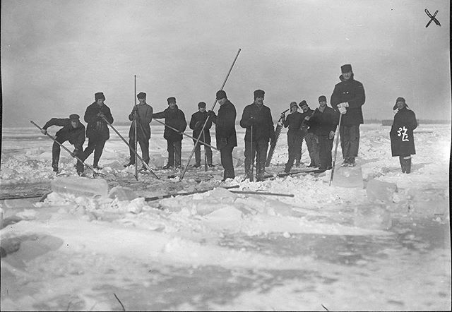 #tbt harvesting some Tudor Ice back in the 1900's #TudorIce #history #pureice #whiskey #bars #tequila #rum #premium #luxury #cocktails #americanhistory