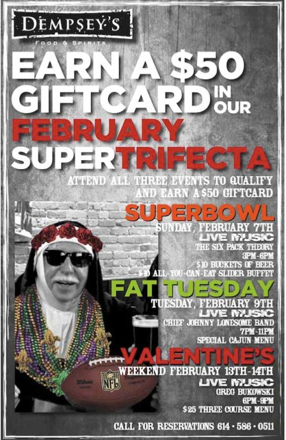 FEBRUARY 2016 @ DEMPSEY'S FOOD & SPIRITS