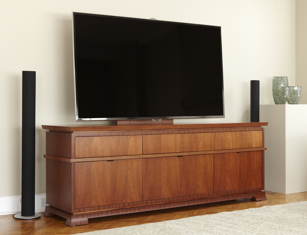 Mahogany Media Console