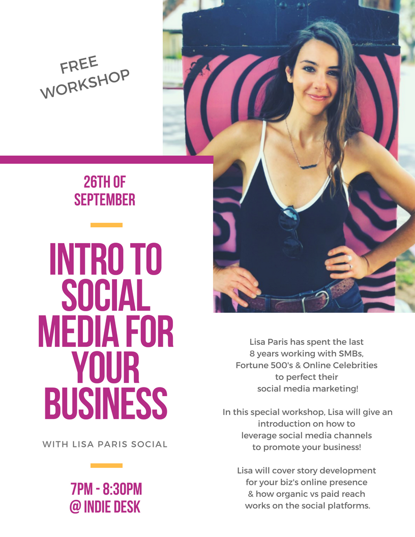 Lisa Paris Social Workshop at Indie Desk Flyer_9.26.18.png