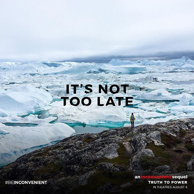 Coming soon to a theater near you: a message of #climatehope. #BeInconvenient #knowtomorrow  #Repost @aninconvenienttruth ・・・ We have the opportunity to make a difference. #BeInconvenient