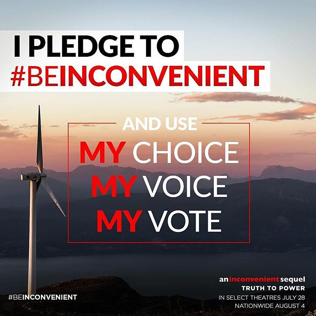 This is the week, friends! Let's all #beinconvenient 🌎