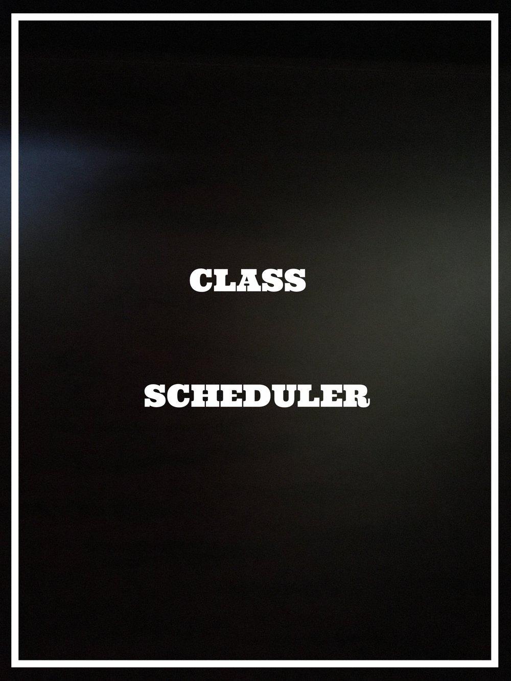 CLASS SCHEDULER