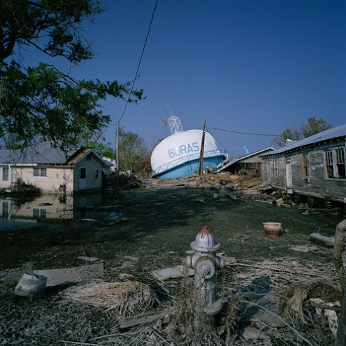 The impact of Hurricane Katrina.