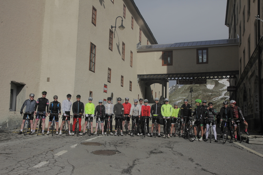 Ready to depart the Monastery on the last day. Just a gentle 150km ahead through Switzerland and into France...