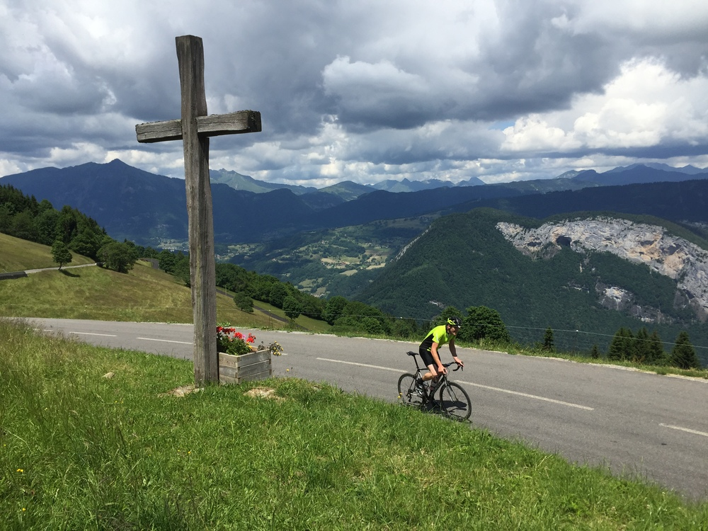 Stunning when you summit the Col du Romme, looking back towards the Joux Plane