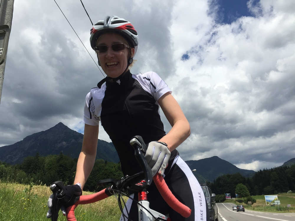 The first trip to the Alps is always the toughest, but Liza always had a smile - good work!