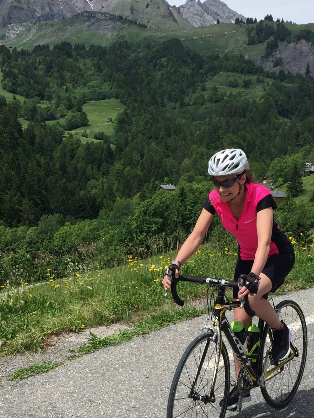 Gemma getting used to the descents!