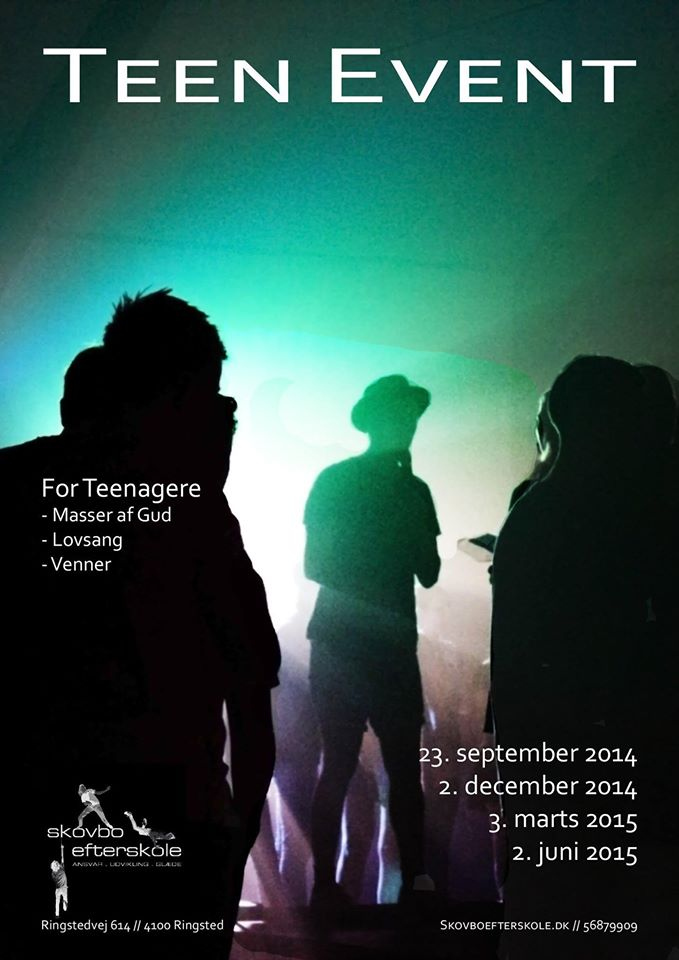 Plakat for Teenevent 2014-2015